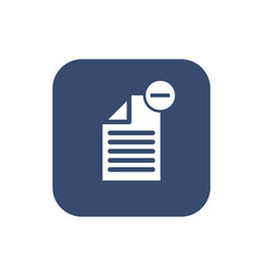 delete document- icon flat design vector image