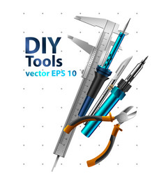 diy tools vector image