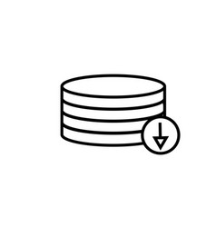 download from database icon vector image
