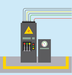 factory monitoring control machine vehicle vector image