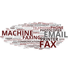 Faxing word cloud concept vector