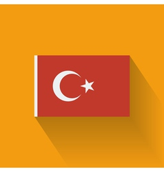 Flat flag of Turkey vector image