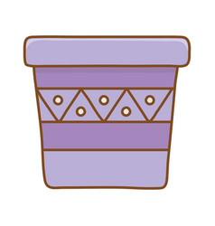 flowerpot icon cartoon vector image
