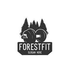 forest fitness logo vector image