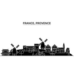 France provence architecture city skyline vector