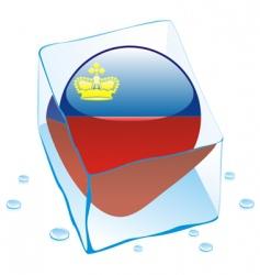 Frozen button flag liechtenstein vector