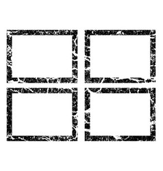 grunge black frame banners logos icons labels vector image