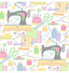 handmade machine pattern vector image