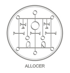Icon with symbol demon allocer vector