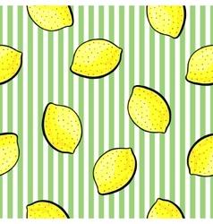 Lemon pattern on white background vector