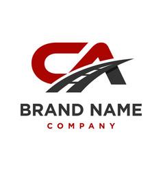 logo ca initials transportation vector image