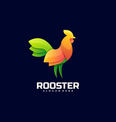 logo rooster gradient colorful style vector image