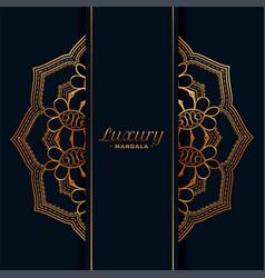 Luxury golden mandala pattern background vector