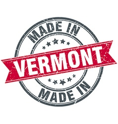 Made in Vermont red round vintage stamp vector