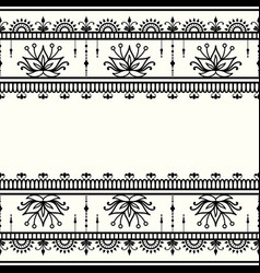 Mehndi decorative template in indian style vector