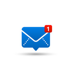 New message icon with notification envelope vector