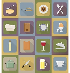 Objects for food flat icons 19 vector