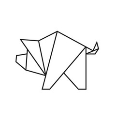 origami pig vector image