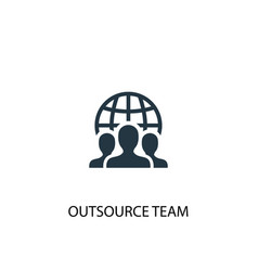 outsource team icon simple element vector image