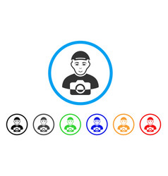 Paparazzi rounded icon vector
