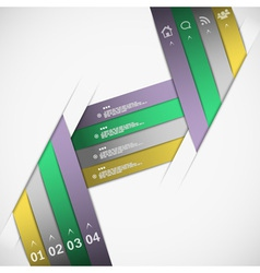 Paper ribbon template vector image