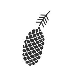 pine cone glyph icon vector image