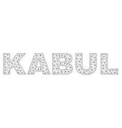 Polygonal mesh kabul text label vector