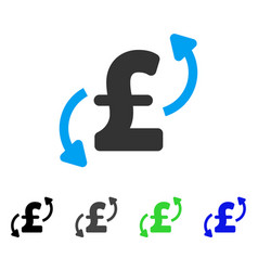 Pound transfers flat icon vector
