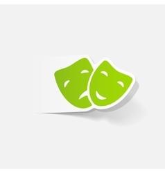 realistic design element mask vector image