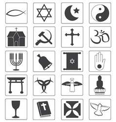 Religious Icons Collection vector image