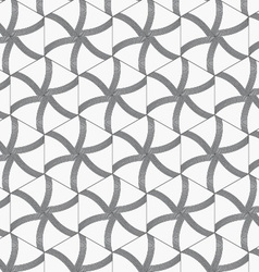 Repeating ornament gray hexagons with lines vector image