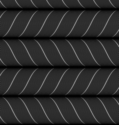Ribbons black horizontal chevron pattern vector image