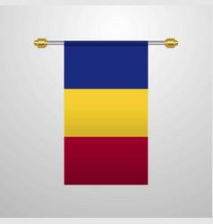 Romania hanging flag vector
