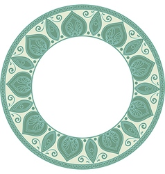 round green frame vector image