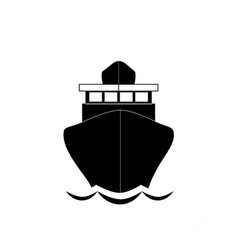 sailing ship front view icon isolated on white vector image