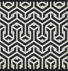 Seamless interlacing lines pattern vector