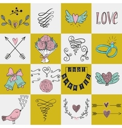 set icons for valentines day mothers day vector image