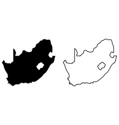 Simple only sharp corners map south africa vector