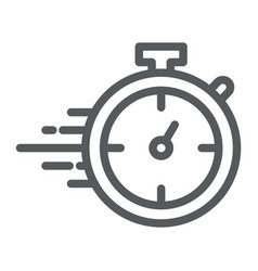 stopwatch line icon watch and countdown timer vector image