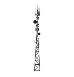 Telecommunication antenna mast or mobile tower vector