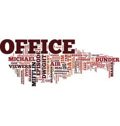 The office dvd review text background word cloud vector