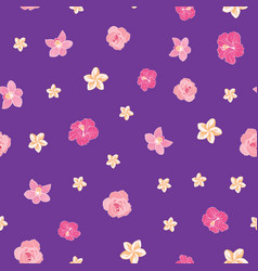 tiny ditsy tropical flowers seamless pattern print vector image
