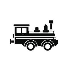 Train locomotive black simple icon vector image vector image
