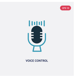 Two color voice control icon from smart house vector