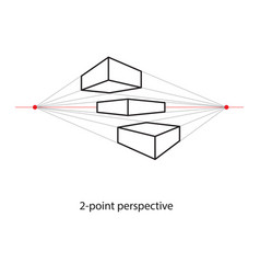 two point perspective line drawing study art vector image