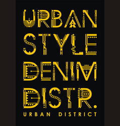typography urban district vector image