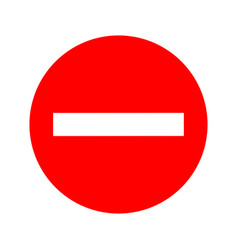 Usa traffic road signskeep out do not enter vector