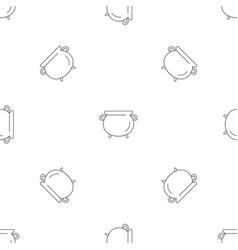 vintage cauldron pattern seamless vector image