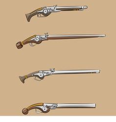 vintage pistols a vector image