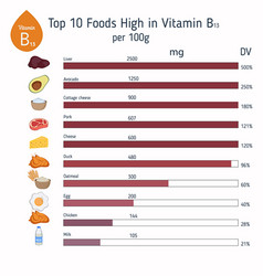 Vitamin b13 or orotic acid infographic vitamin vector